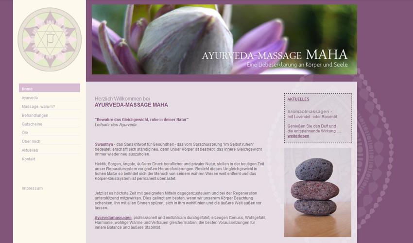 Ayurvedamassage Maha